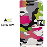 iPhone 4S / 4 Novoskins Neon Camouflage Diary Case ART NOVO COLLECTION Promotion Price Free Other iP4 Case