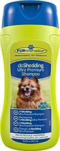 FURminator deShedding Ultra Premium-Shampoo für Hunde und Katzen (Anti-Haaren Shampoo, für gesundes Hundefell), 250 ml Flasche