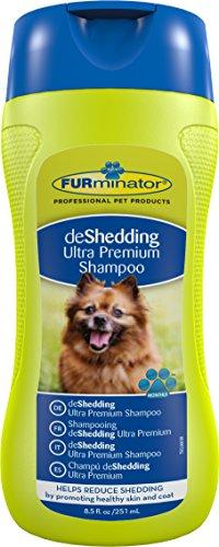 FURminator deShedding Ultra Premium-Shampoo für Hunde und Katzen (Anti-Haaren Shampoo, für gesundes Hundefell), 250 ml Flasche -