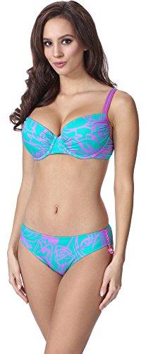 Feba Figurformender Damen Push Up Bikini F01A 2 (Muster-324, Cup 90E / Unterteil 44)