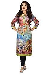 Maasha Women's Georgette Kurti (Maashakurti1037_Multicolor_Medium)