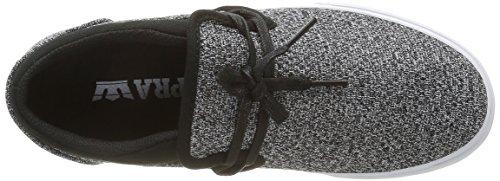 Supra - Cuba, Sneaker Unisex – Adulto Grigio (Gris (Charcoal Heather/Black/White))