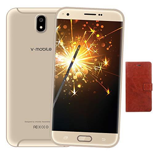 """Moviles Libres Smartphone 16GB ROM Dual Sim (Accesorios: Funda de Piel) Pantalla 5.5"""" HD+(1440 * 720 Pixel) Movil..."""
