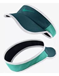 Nike W Nk Arobill Fthrlt Visor - Gorra para mujer, color azul, talla S/M