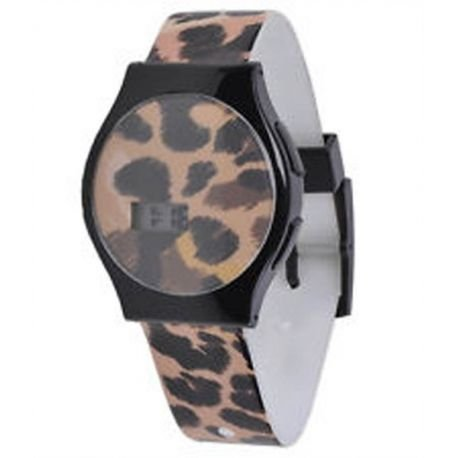 Black Cheetah (Neff Slim Watch Uhr Cheetah, Black, Uni)