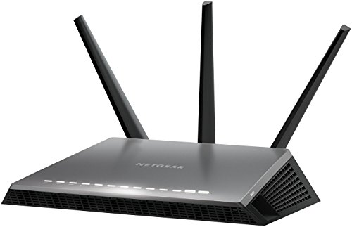 Netgear Nighthawk D7000-100PES Modem Router WiFi AC1900 Dual Band, Rilevamento Automatico DSL, Beamforming e Gestione Tramite App