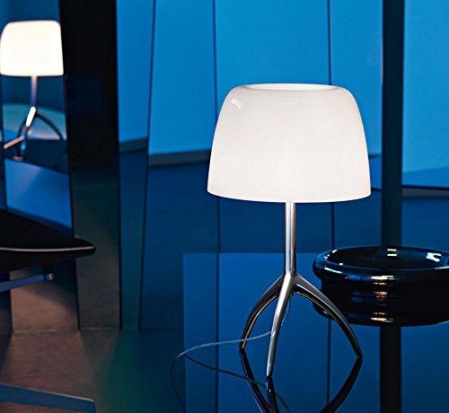 Foscarini Lumiere 05 Piccola Lampe avec variateur Aluminium/blanc