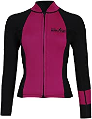 MD 3mm Harmony Womens Ladies Wetsuit Jacket Long Sleeve Top by TWO BARE FEET