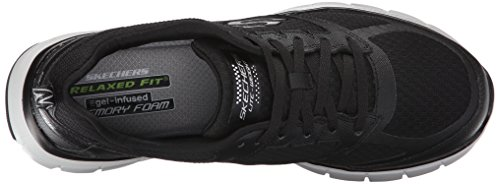 Skechers - Skech-flex Power Alley, Scarpe sportive outdoor Uomo Nero (Black (Black Bkgy))