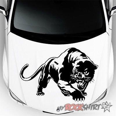 Panther Motorhaube 60 cm Aufkleber für Auto,Scheibe, Lack,Wand,Wandtattoo aus Hochleistungsfolie für alle glatten Flächen von myrockshirt Autoaufkleber Tuning Decal Sticker