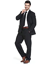 YOU LOOK UGLY TODAY Mens Party Suit Solid Color Jacket Costume Leisure Suit for Halloween Party with Tie & Pants
