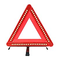 Big Hippo Foldable Car Emergency Warning Triangle-Emergency Road Flasher,Universal Reflective Warning Triangle Signs with LED lights