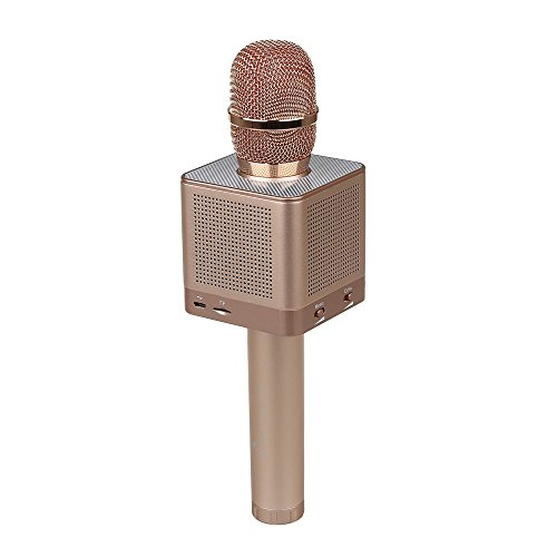 Price comparison product image Portable Wireless Handheld Microphone Bluetooth Mic Karaoke KTV Player With 4 loudspeakers Removable battery For Android Ios