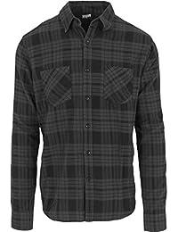 Urban Classics Herren Langarmshirt Hemd Checked Flanell Shirt 2