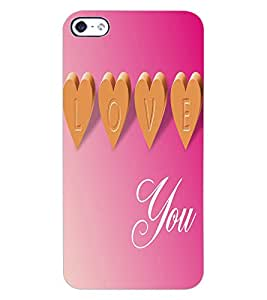 ColourCraft Love Quote Design Back Case Cover for APPLE IPHONE 4