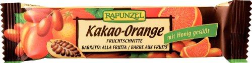 Rapunzel Fruchtschnitte Kakao-Orange,10er Pack (10 x 40 g) - Bio