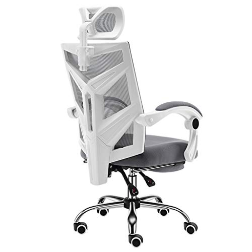 Schreibtischstühle Bürostuhl Stuhl Computer Stuhl Hause Stuhl ergonomischer bürostuhl Hause Student Stuhl Computer Stuhl bürostuhl, super Last tragend (Color : Gray, Size : 60 * 60 * 113cm) -