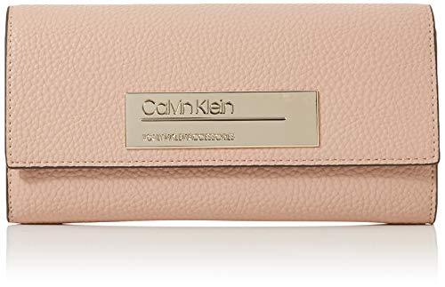 Calvin Klein Damen Sided Large Trifold Laptop Tasche, Pink (Nude), 2x11x20 cm (Damen Geldbörse Laptop-tasche)