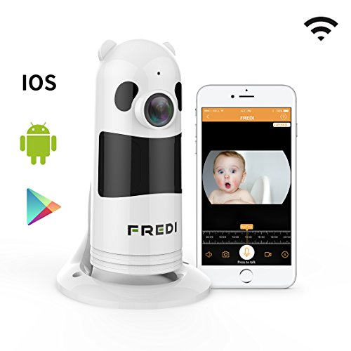 FREDI HD 1080P Wireless Baby Monitor Wifi Security Wide Viewing Angle IP Camera with IR Night Vision /2-way Audio/ Motion Detection Loop recording(Without SD Card)