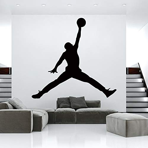 Hot jordan Basketball Vinyl wall sticker wallpaper para niños habitaciones dormitorio decoracion mural gimnasio decoracion accesorios Dekoration 43 cm x 40cm