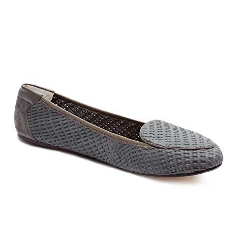 Cocorose Faltbare Schuhe - Clapham Damen Ballerinas Leder - Grey - größe 39 - London Sole Ballerinas