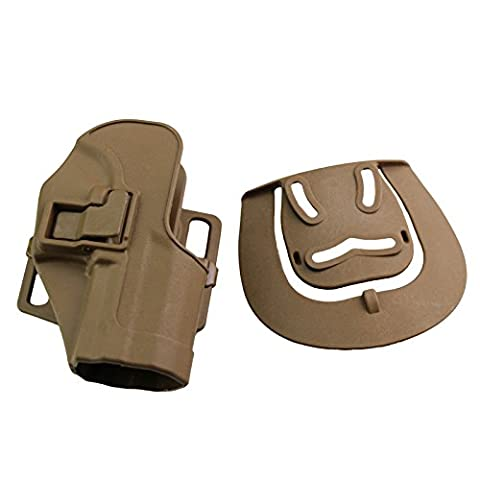 Airsoft Tactical Right Waist Concealment Paddle Belt Quick Release Hand Holster Case for H&K USP Compact (desert)