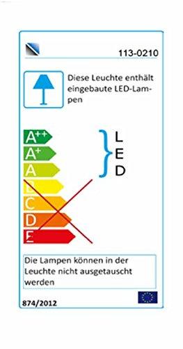8-tlg. Wohnwand in Hochglanz weiß/grau mit Akustik-Fächern und LED-Beleuchtung, Gesamtmaß B/T ca. 300/51 cm - 2