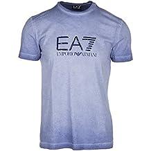 Emporio Armani ea7–Camiseta de manga corta camiseta de manga corta cuello redondo. Película, azul, small