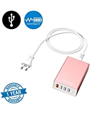 BitLoop 4 Port USB Charging Hub with QuickCharge 3.0 Technology (Rose Gold)