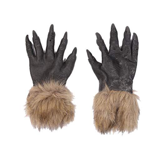 Wolf Handschuhe Horror Scary Animal Dress up Kostümzubehör für Erwachsene Halloween Party Favors ()
