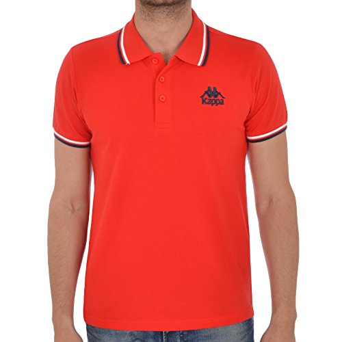 Kappa uomo casual a maniche corte Polo Red Medium