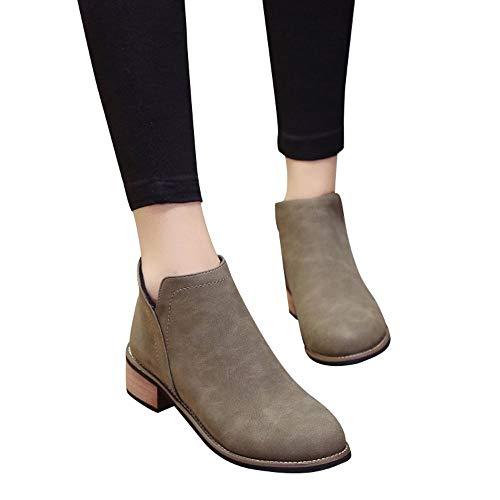 Preisvergleich Produktbild TianWlio Damen Stiefel Stiefeletten Mode Frauen Martin Stiefel Stiefeletten Scrub Starke Hacke Dame Stiefel
