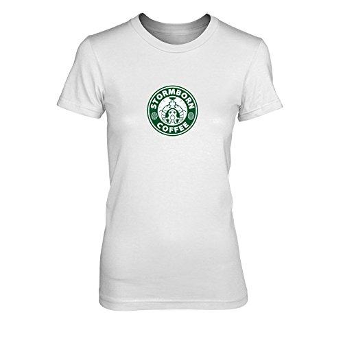 Starbucks Coffee Kostüm - GoT: Stormborn Coffee - Damen T-Shirt, Größe: XL, Farbe: weiß