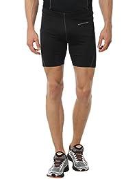 Ultrasport Endurance Salamanca - Pantalones Cortos de Correr para hombre, color negro, talla L