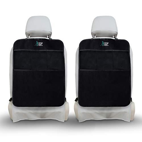 Ultimativer Sitzschutz für Autositze x2 zum Schutz Ihrer Autopolster - Wasserdichter Rückenlehnenschutz mit Rückenlehnen-Tasche – Robuster Rücksitzschoner zum Schutz vor Tritten und Flecken