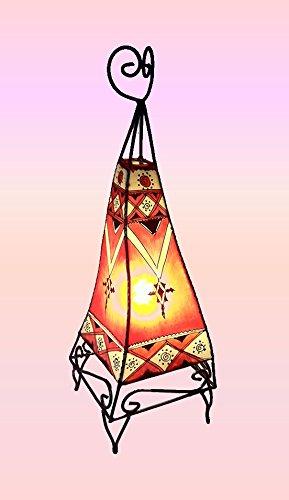 Tiefebene Marokkanische Henna Lampe von terra- Rund-Metall forato- grün 70cm-Letzten 2-