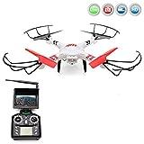 RC ferngesteuerter Quadcopter mit HD-Kamera, FPV-Monitor und Live-Übertragung, 4.5-Kanal Quadrocopter, 5.8GHz Video-Übertragung, Upgrade Pro HD-Edition, Neueste Version der 3D Drohne inkl. HD Kamera-Set, FPV-Monitor, LiPo-Akku, Ersatzteil-Set, Ready-to-Fly, RTF