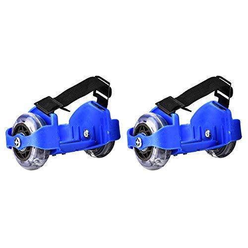 Huakii 1 Paar Verstellbarer Riemen Flash Skating Schuhe Heel Wheel Roller