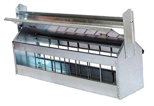 Futtertrog Metall 60 cm mit Abwehrrolle