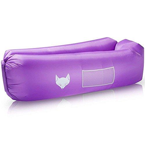 IceFox Luftsofa, Wasserdichtes Aufblasbares Air Lounger mit Tragebeutel, Zum Schlafen im Freien, im Innenbereich, Zum Zurücklehnen und Entspannen, Aufblasbarer Sitzsack