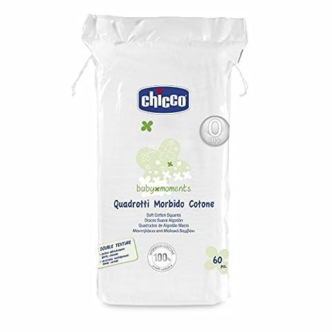chicco - carrés souple coton 60 pièces