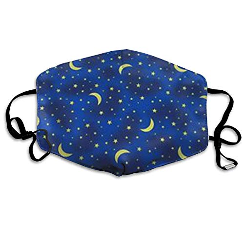 Blue Star Moon Anti-dust Cotton Mouth Face Masks Mouth Cover for Man and Woman - Star Womens Hoodie