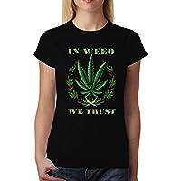 Cannabis Mujer Verde Xs Nuevo Camiseta 2xl Marihuana P8kn0wOX