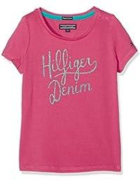 Tommy Hilfiger Mädchen T-Shirt Ame Girls Hilfiger Cn Knit S/S