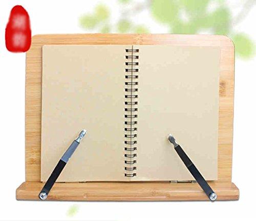 Stand de Libro de Bambú 28 * 20.5 Cm Estantes de Lectura Marco de Lectura Material Escolar Estudiante