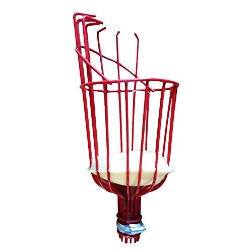 UxradG Verstellbar Obstpflücker, Outdoor Aluminium Obstpflücker mit Leicht, Teleskop Obstpflücker Catcher Cutter Sicher Korb Tasche mit Griff, 34.5x14.5cm