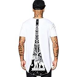 ABClothing Hombres Tailandia Elefante Tee Raperos Legends Hip Hop Camisetas Graphic Tshirt L