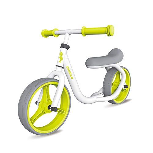 YUSDP 12 Zoll No Pedal Balance Bike, 65 mm extrabreite Reifen, verlängertes Komfortables Kissen - Verstellbarer Lenker Kinder von 3-7 Jahren