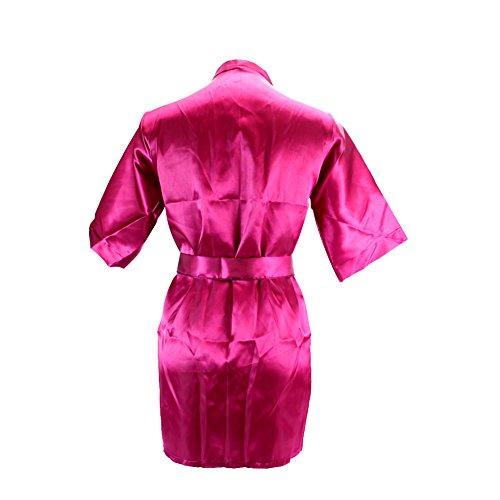 Chouette Femme Nuisette Lingerie Robe Bretelle babydoll Sexy V-Col de nuit Manches Courtes Dentelle Rouge