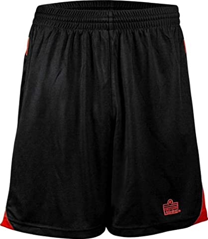 Admiral Elite Shorts, Black/Scarlet, Youth